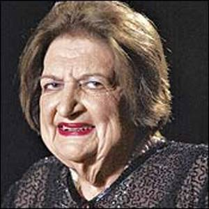 Political columnist, Helen Thomas.