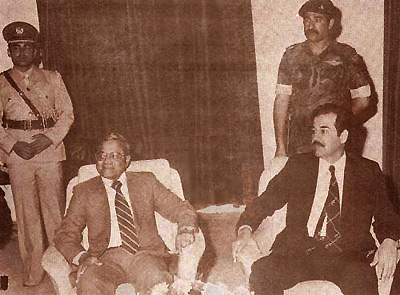 Gayoom and Saddam Hussein